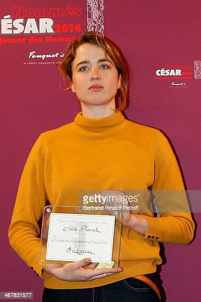 Adele Haenel attends the Cesar 2014 nominne lunch at Le Fouquet's on February 8 2014 in Paris France