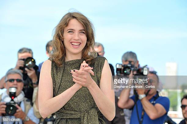 Adele Haenel attends The Unknown Girl Photocall during the 69th annual Cannes Film Festival at the Palais des Festivals on May 18 2016 in Cannes...