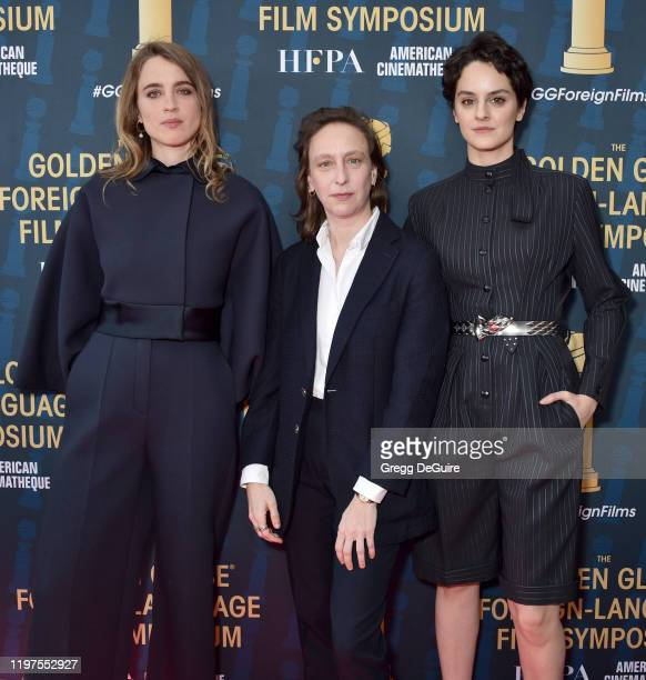 Adele Haenel Celine Sciamma and Noemie Merlant attend the HFPA's 2020 Golden Globes Awards Best Motion Picture Foreign Language Symposium at the...
