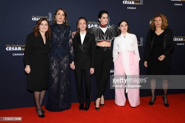 Adele Haenel Celine Sciamma Noemie Merlant and Luana Bajrami arrive at the Cesar Film Awards 2020 Ceremony At Salle Pleyel In Paris on February 28...