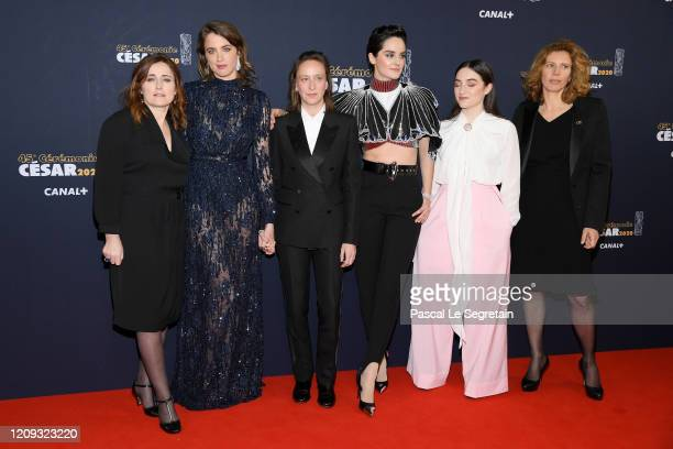 Adele Haenel, Celine Sciamma, Noemie Merlant and Luana Bajrami arrive at the Cesar Film Awards 2020 Ceremony At Salle Pleyel In Paris on February 28,...
