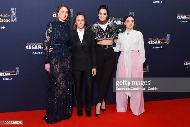 Adele Haenel Celine Sciamma Noemie Merlant and Luana Bajrami arrive at the Cesar Film Awards 2020 Ceremony At Salle Pleyel In Paris on February 28...