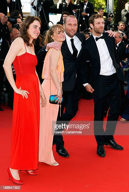 Adele Haenel Katell Quillevere Francois Damiens and Paul Hamy attend the Premiere of 'Le Passe' during The 66th Annual Cannes Film Festival at Palais...