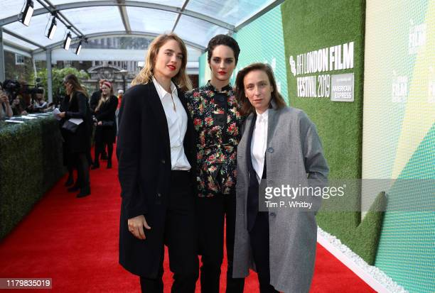 Adele Haenel Noemie Merlant and Celine Sciamma attend the Portrait Of A Lady On Fire UK Premiere during the 63rd BFI London Film Festival at the...