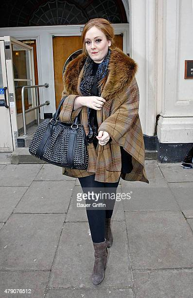 Adele is seen leaving the BBC Radio One Studios on January 27 2011 in London United Kingdom