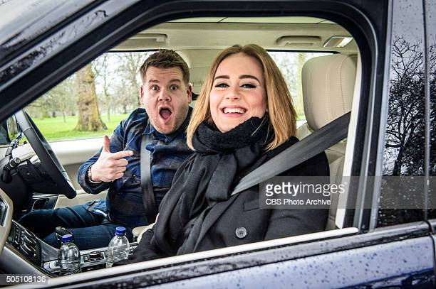 Adele joins James Corden for Carpool Karaoke on The Late Late Show with James Corden Wednesday January 13th 2016 on the CBS Television Network