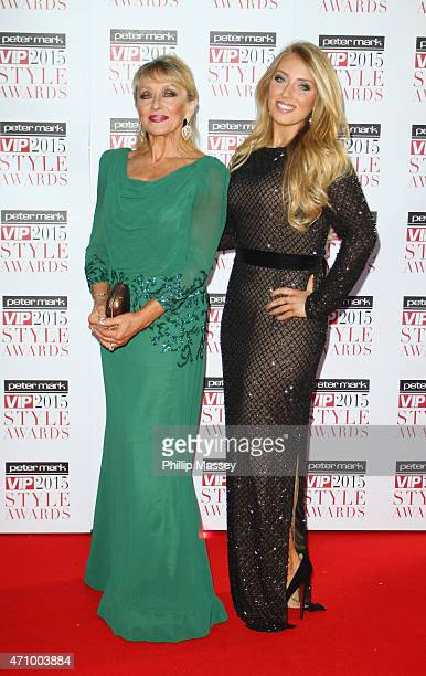Adele King aka Twink and daughter Chloe Agnew attend the Peter Mark VIP Style Awards at the Marker Hotel on April 24 2015 in Dublin Ireland