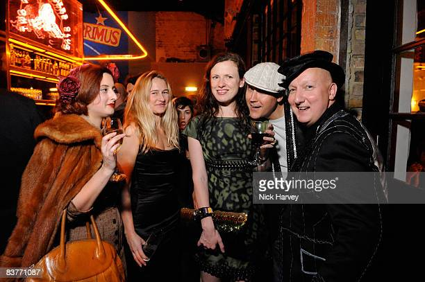 Adele Mildred Angie Kurdash Katie Grand Simon Costyn and stephen Jones attends the launch of Double Club on November 20 2008 in London England