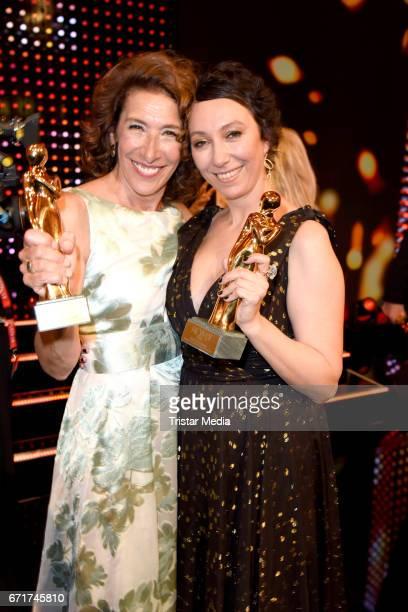 Adele Neuhauser and Ursula Strauss during the ROMY award at Hofburg Vienna on April 22 2017 in Vienna Austria