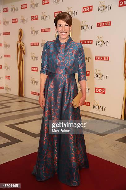 Adele Neuhauser attends the Romy Award 2014 at Hofburg Vienna on April 26 2014 in Vienna Austria