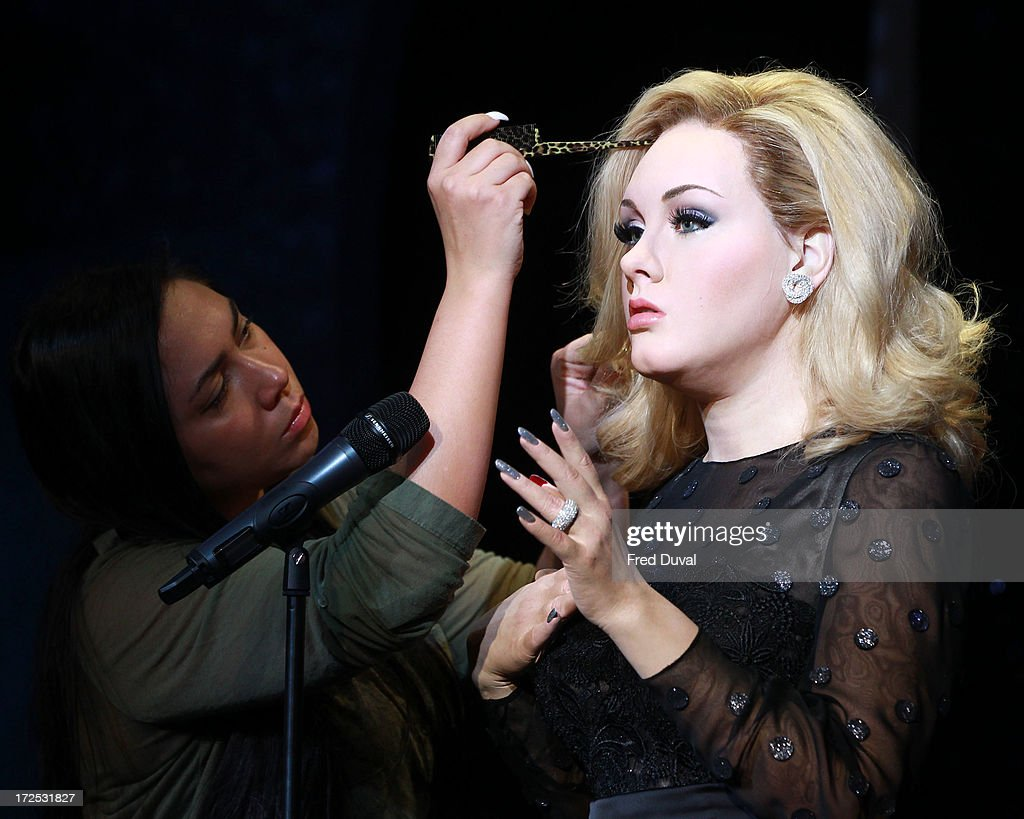 Adele new waxwork is unveiled at Madame Tussauds on July 3, 2013 in London, England.