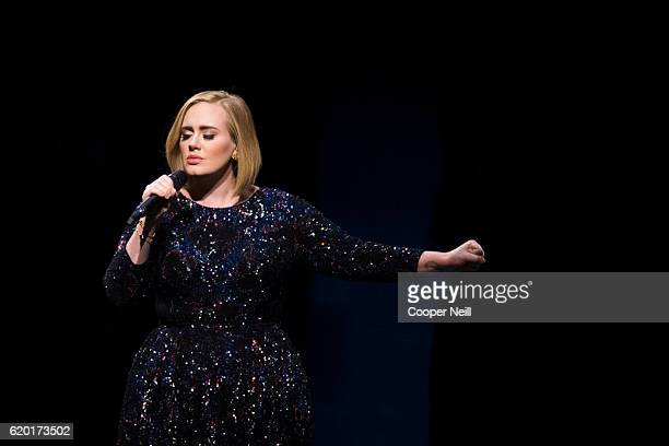 Adele performs at American Airlines Center on November 1 2016 in Dallas Texas
