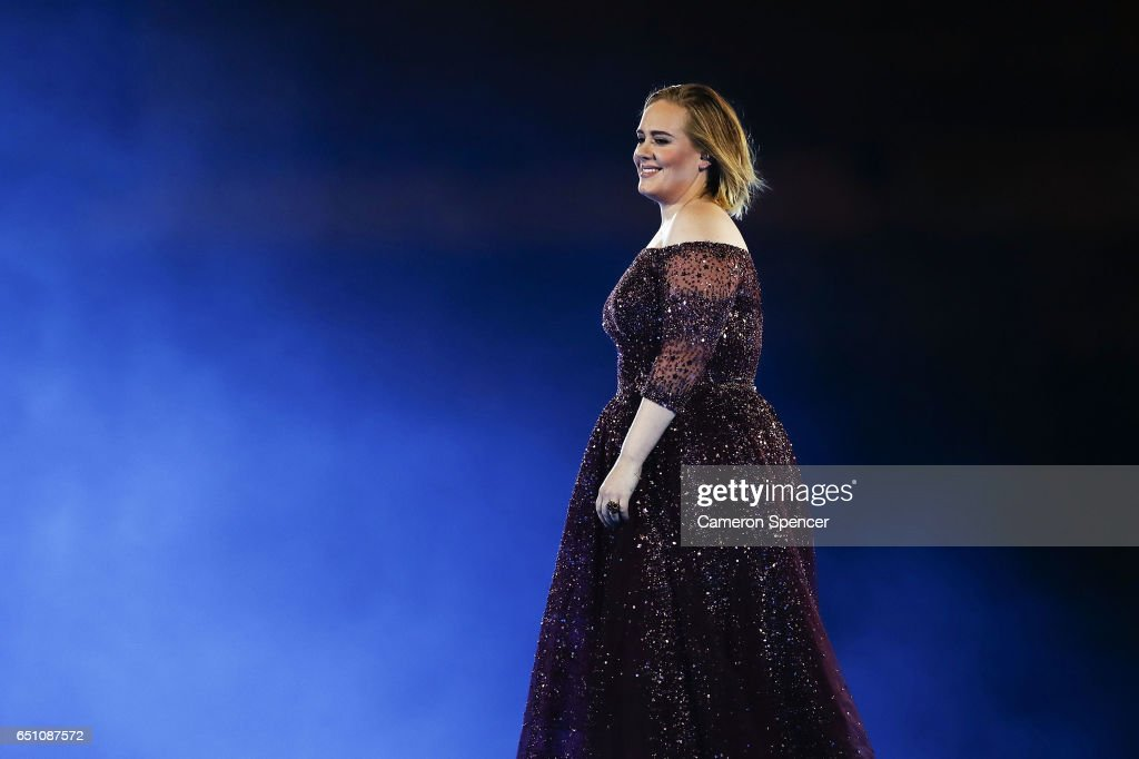 Adele performs at ANZ Stadium on March 10, 2017 in Sydney, Australia.