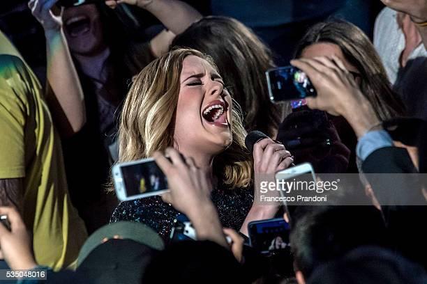 Adele performs at Arena di Verona on May 28 2016 in Verona Italy