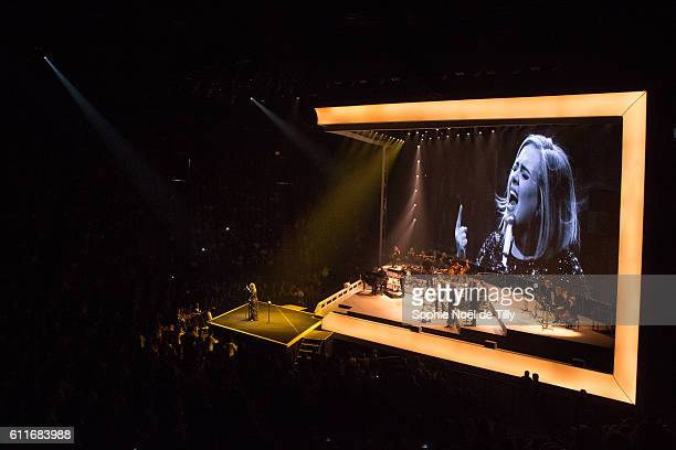 Adele performs at Bell Centre on September 30 2016 in Montreal Canada