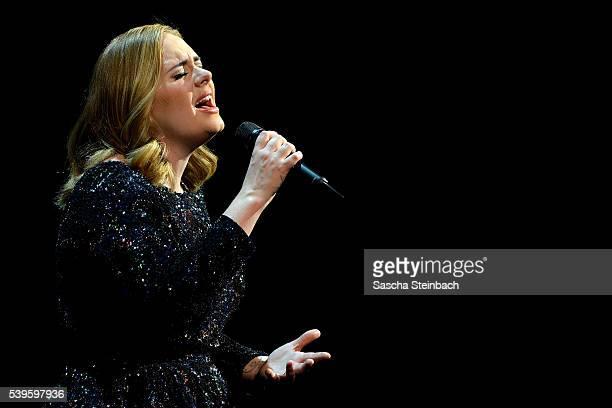 Adele performs at SportPaleis on June 12 2016 in Antwerpen Belgium