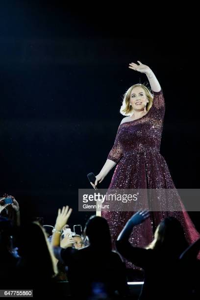 Adele performs at The Gabba on March 4 2017 in Brisbane Australia