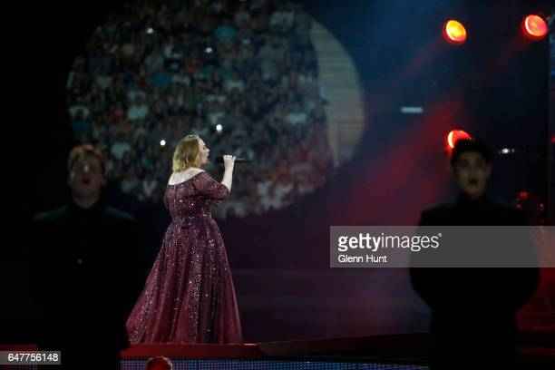 Adele performs at The Gabba on March 4, 2017 in Brisbane, Australia.