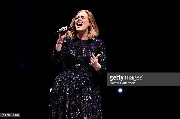 Adele performs at The SSE Hydro on March 25 2016 in Glasgow Scotland