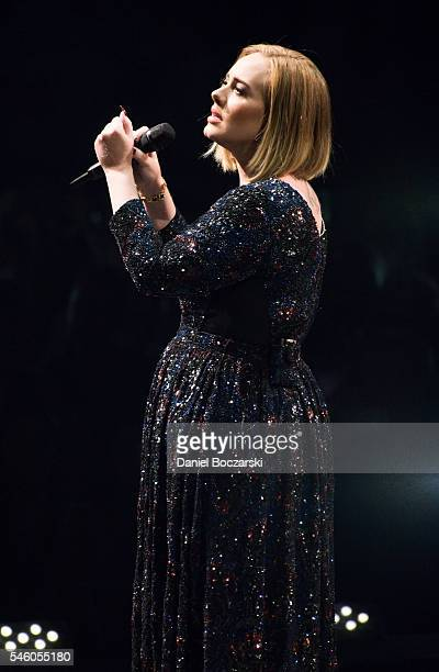 Adele performs at United Center on July 10 2016 in Chicago Illinois