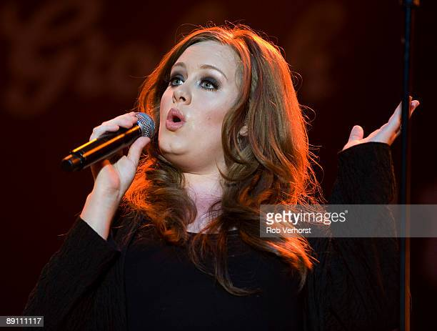 Adele performs live at The North Sea Jazz Festival Ahoy Rotterdam in Holland on July 12 2009