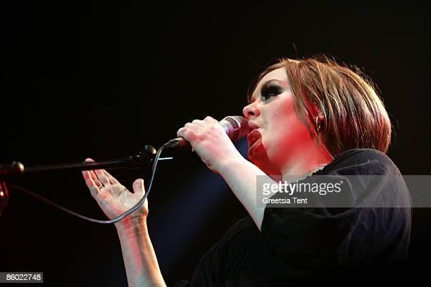 Adele performs live in concert at the Heineken Music Hall on April 17 2009 in Amsterdam Netherlands