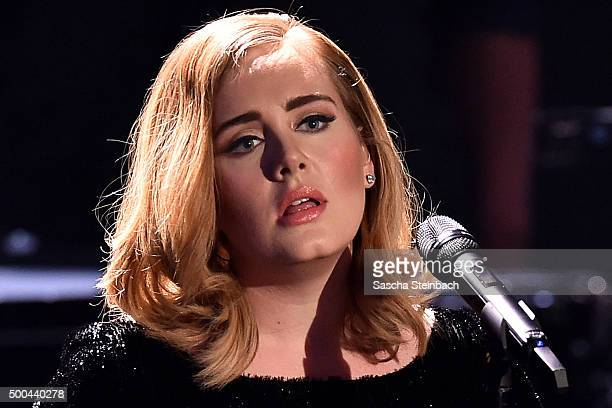 Adele performs live on stage during the television show 2015 Menschen Bilder Emotionen RTL Jahresrueckblick on December 6 2015 in Cologne Germany