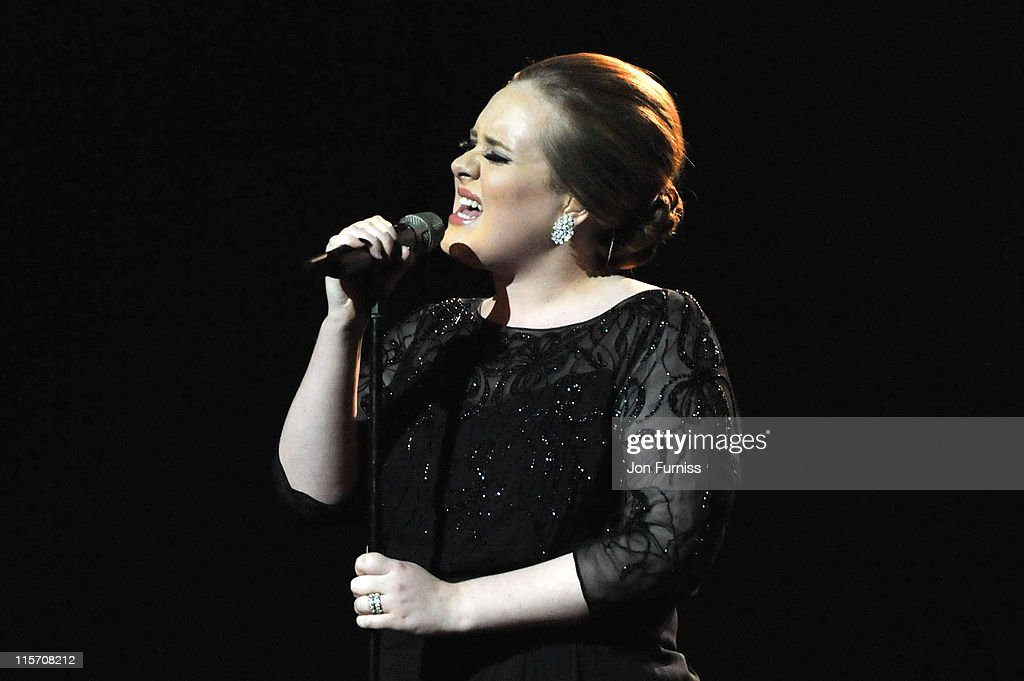 Adele performs on stage at the The BRIT Awards 2011 at O2 Arena on February 15, 2011 in London, England.