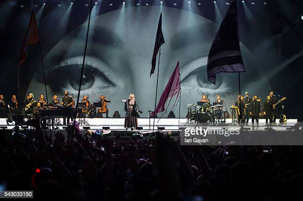 Adele performs on The Pyramid Stage on day 2 of the Glastonbury Festival at Worthy Farm, Pilton on June 25, 2016 in Glastonbury, England. Now its...
