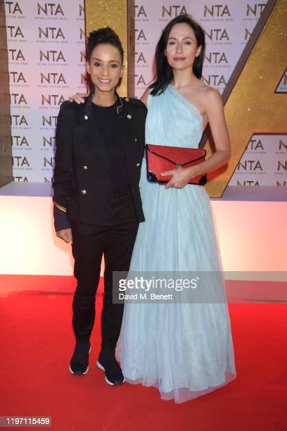 Adele Roberts and Kate Holderness attend the National Television Awards 2020 at The O2 Arena on January 28, 2020 in London, England.