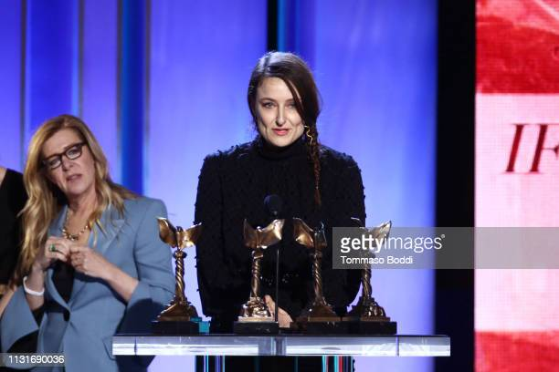 "Adele Romanski accepts Best Feature for ""If Beale Street Could Talk"" onstage during the 2019 Film Independent Spirit Awards on February 23 2019 in..."