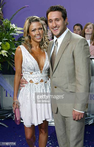 Adele Silva and Antony Costa during The 2005 British Soap Awards Arrivals at BBC Tv Studios in London Great Britain
