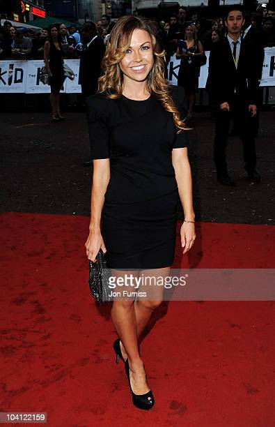 Adele Silva attends 'The Kid' UK premiere at the Odeon Leicester Square on September 15 2010 in London England