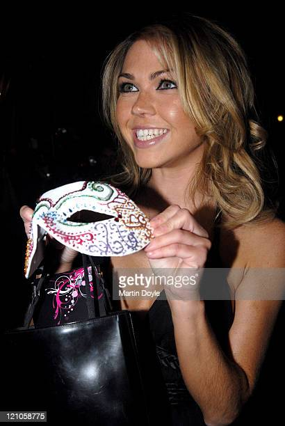 Adele Silva attends the Pink Ice Ball October 5 2007 in London England