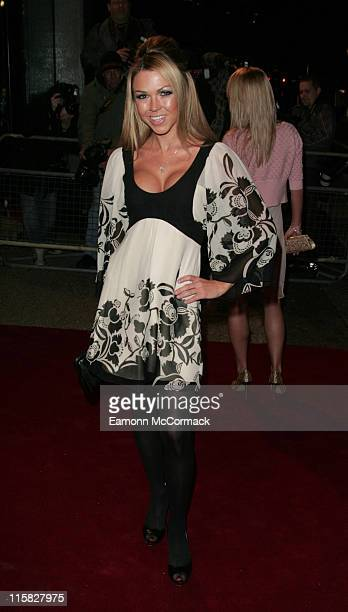 Adele Silva during An Audience with Take That Arrivals at The London Television Centre in London Great Britain
