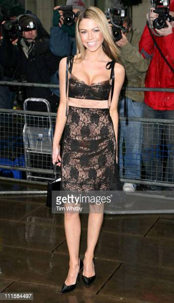 Adele Silva during TRIC Awards 2006 Arrivals at Grosvenor House in London Great Britain