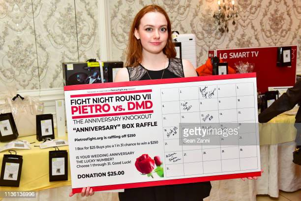 Adele Wendt attends Fight Night Round VII at El Caribe Country Club on March 15 2019 in Brooklyn New York