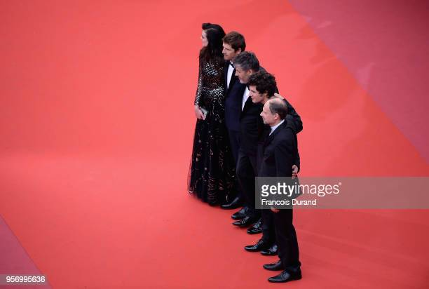 Adele Wismes Pierre Deladonchamps Christophe Honore Vincent Lacoste and Denis Podalydes attends the screening of 'Sorry Angel ' during the 71st...