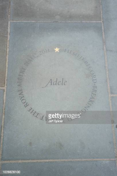 Adele's star at the Royal Albert Hall 'Walk Of Fame' at Royal Albert Hall on September 4 2018 in London England