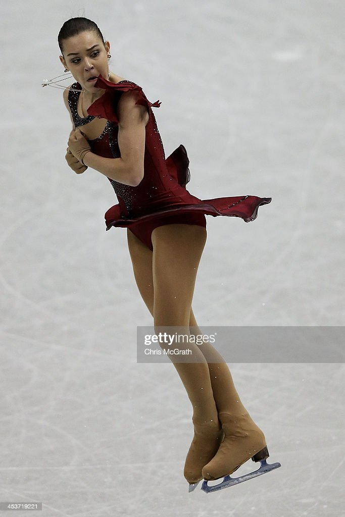 Adelina Sotnikova of Russia competes in the Ladies Short Program during day one of the ISU Grand Prix of Figure Skating Final 2013/2014 at Marine Messe Fukuoka on December 5, 2013 in Fukuoka, Japan.