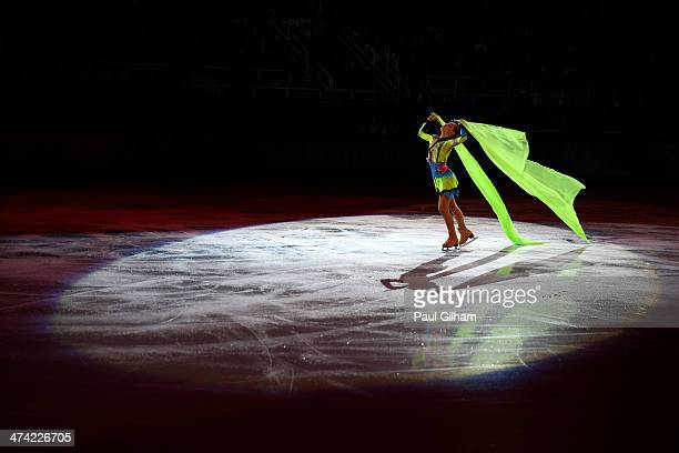 Adelina Sotnikova of Russia performs during the Figure Skating Exhibition Gala at Iceberg Skating Palace on February 22 2014 in Sochi