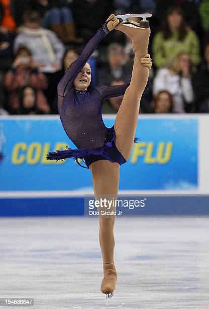 Adelina Sotnikova of Russia skates in the ladies free skate during Day 3 of the Skate America competition at the ShoWare Center on October 21 2012 in...