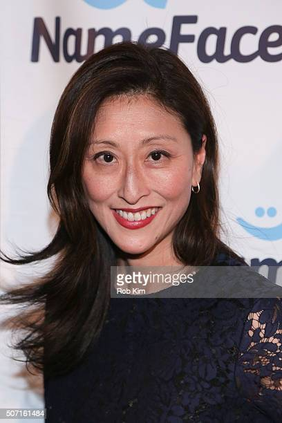 Adelina Wong Ettelson attends the launch party for NameFacecom at No 8 on January 27 2016 in New York City