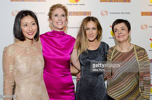 Adelina Wong Ettelson, Fiona Howe Rudin, Sarah Jessica Parker and Cora Cahan attend the 2012 New 42nd Street gala at The New Victory Theater on...