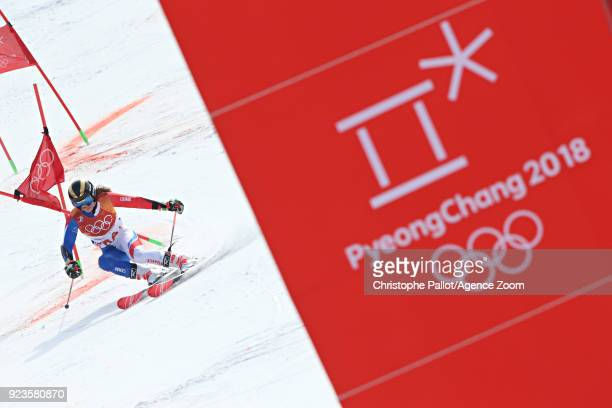 Adeline Baud Mugnier of France competes during the Alpine Skiing National Team Event at Yongpyong Alpine Centre on February 24 2018 in Pyeongchanggun...