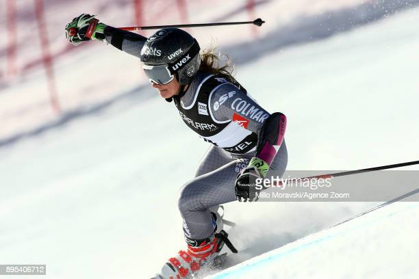 Adeline Baud Mugnier of France in action during the Audi FIS Alpine Ski World Cup Women's Giant Slalom on December 19 2017 in Courchevel France