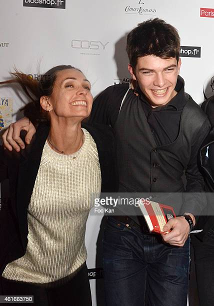 Adeline Blondieau and Aitor Blondieau attend 'La Nouvelle Dame Aux Camelias' Renaud Duval Book Launch Party at the Cosy Club on January 16, 2014 in...