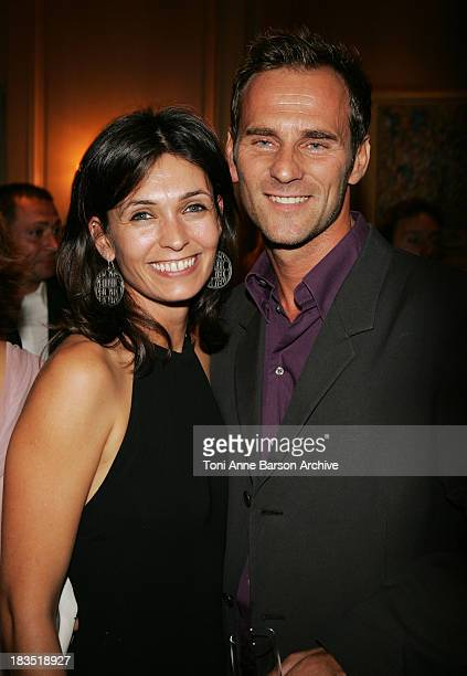 Adeline Blondieau and Sergio Tampororelli during Laurette Fugain Association Against Leucemia Gala at Carlton Intercontinental Hotel in Cannes France