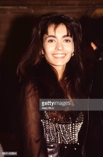 Adeline Blondieau lors de la soirée 'The Best' le 11 décembre 1991 à Paris France