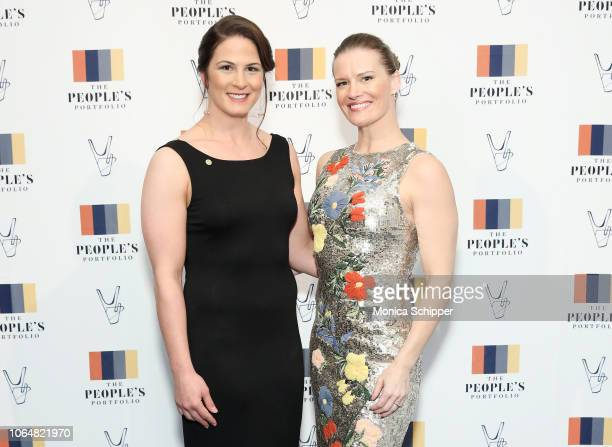 Adeline Gray and Sally Roberts attend The People's Portfolio Leadership Awards Gala at Industria on November 07 2018 in New York City